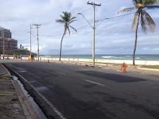 Motoristas devem evitar os trechos em obra no Rio Vermelho
