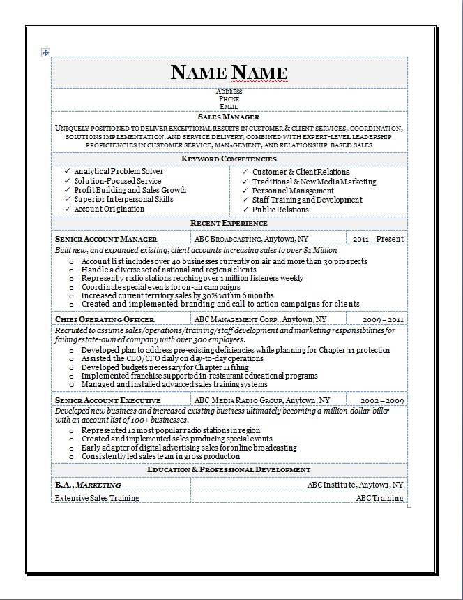 View sample resumes