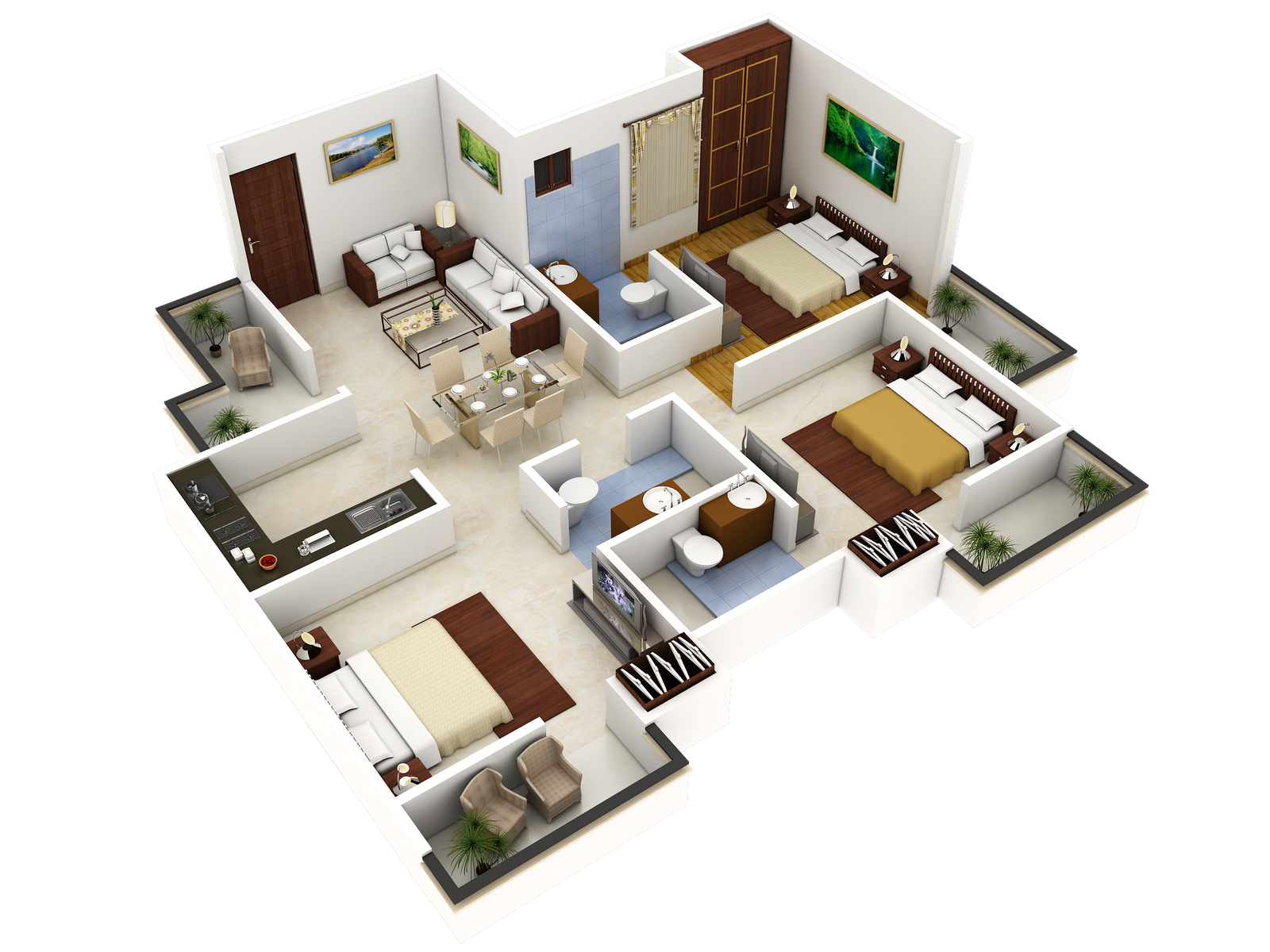 Tech n gen residencial 3d elevation Home plan 3d