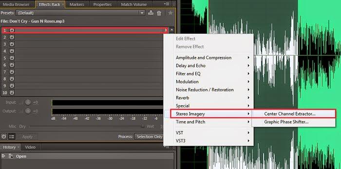 Cara Hapus vocal lagu memakai software