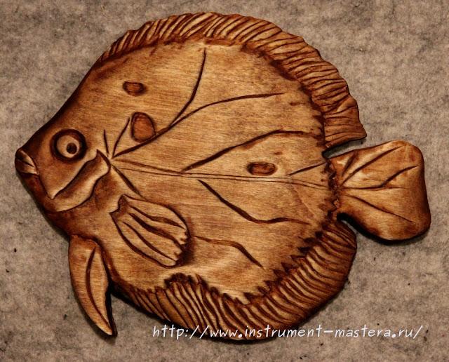 Резьба по дереву. Подарок рыбаку