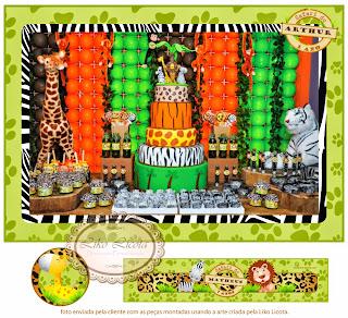festa infantil safari