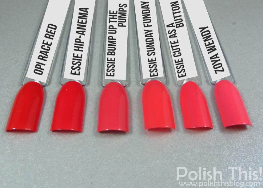 essie jiggle hi jiggle low collection comparisons polish