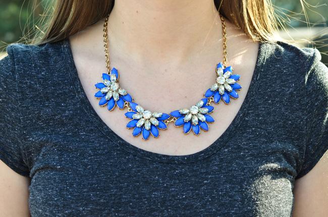 Next Blue Flower Statement Necklace