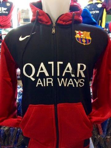 Jual jAket hoodie Barcelona Warna merah hitam terbaru