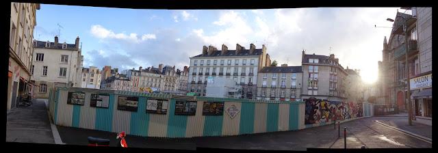 La Place Saint-Germain de Rennes vue depuis l'angle nord-est de la place - 05 mai 2015