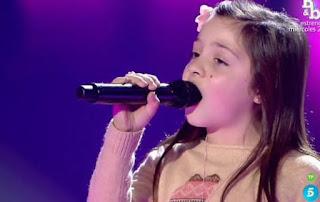 Cinta canta Roar de Katy Perry. La Voz Kids