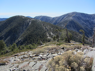 View south from Pine Mt. toward Dawson Peak and Mt. Baldy