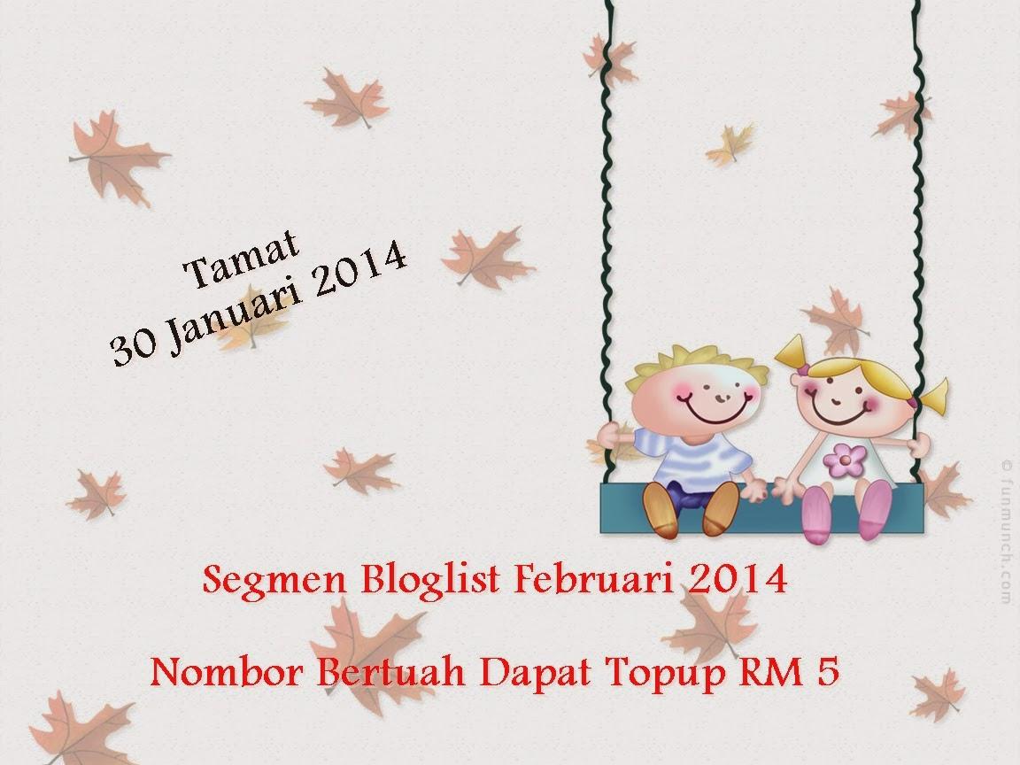 Segmen Bloglist Februari 2014