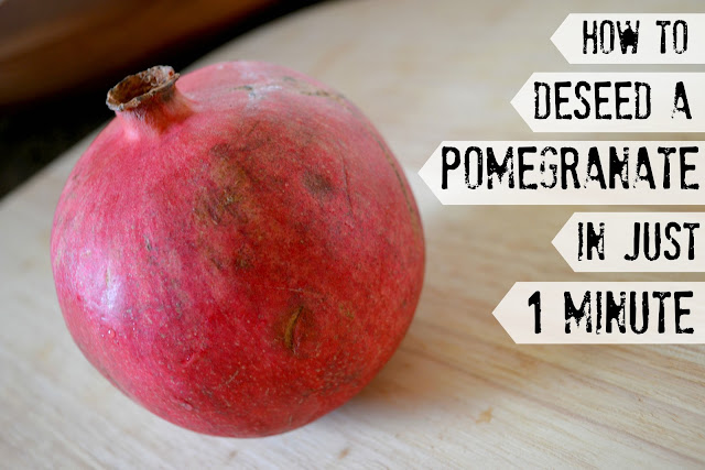 How To Deseed a pomegranate, How to get the seeds out of a pomegranate, Fastest way to deseed a pomegranate