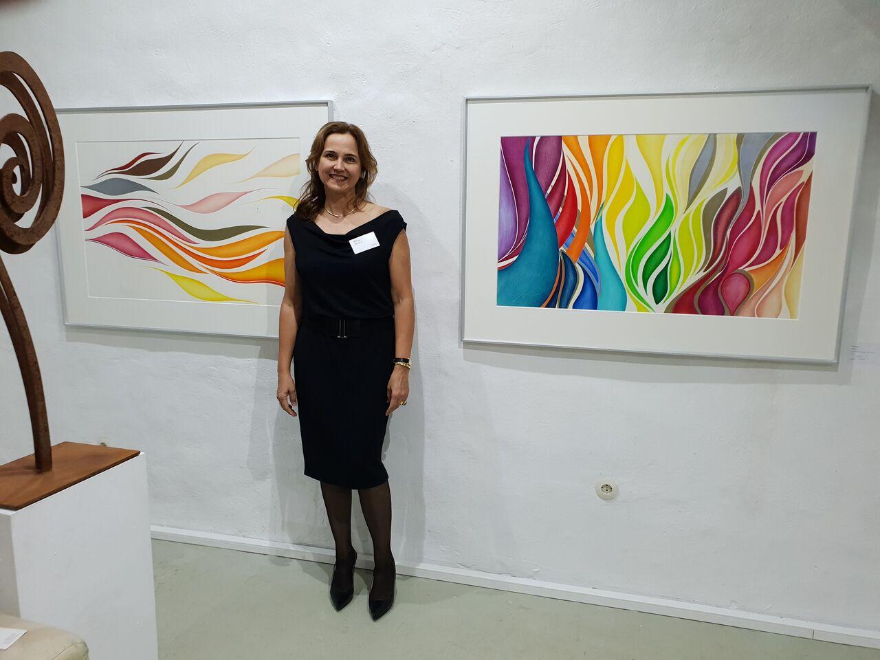 Ausstellung bei Galerie m Beck in Homburg Deutschland - 2018