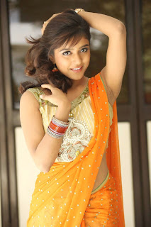 Vithika Sheru Looks So sweet and adorable in Yellow Net Saree