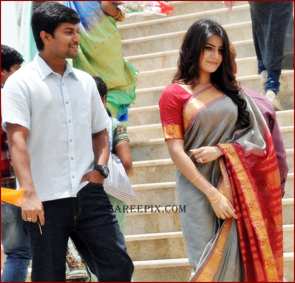 Samantha_with_nani_in_traditional_saree_Yeto_Vellipotindi_Manasu