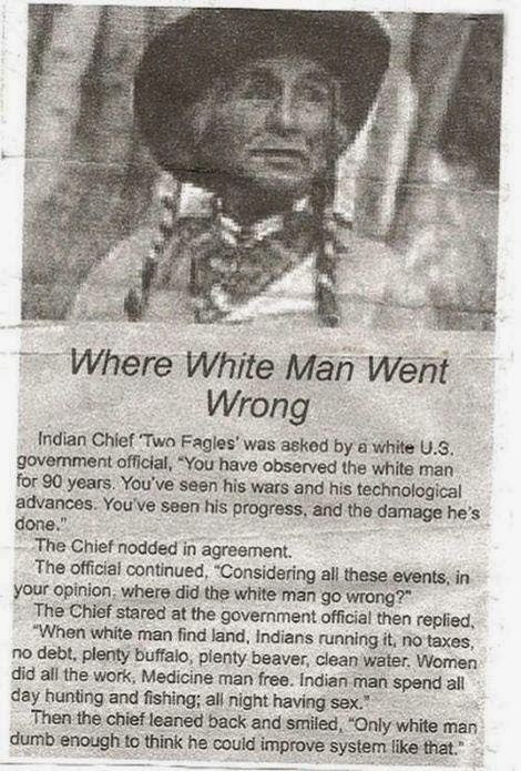white man Indian chief randommusings.filminspector.com