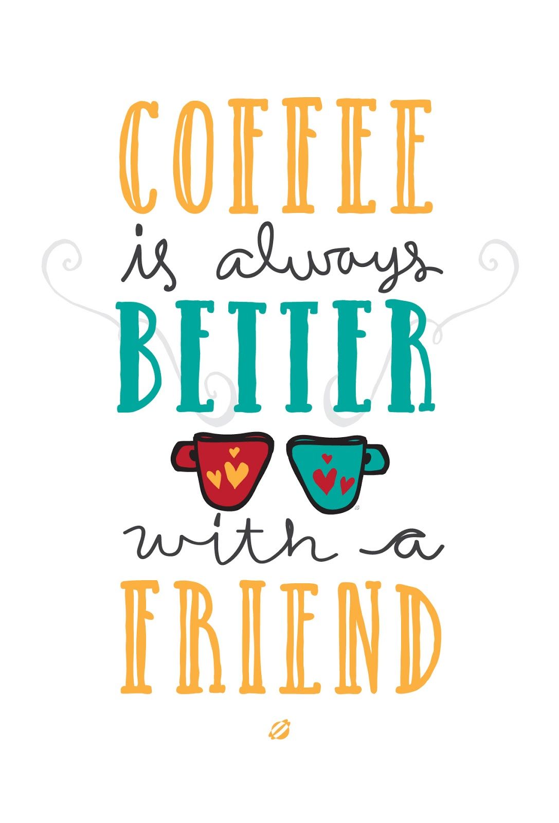 LostBumblebee ©2014 Coffee with a Friend -Free Printable - Personal Use Only.