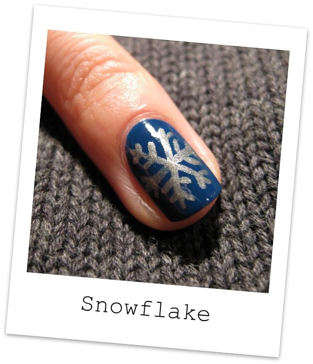 Snowflake Nail Art Tutorial: Nailside: Tutorial: Snowflake