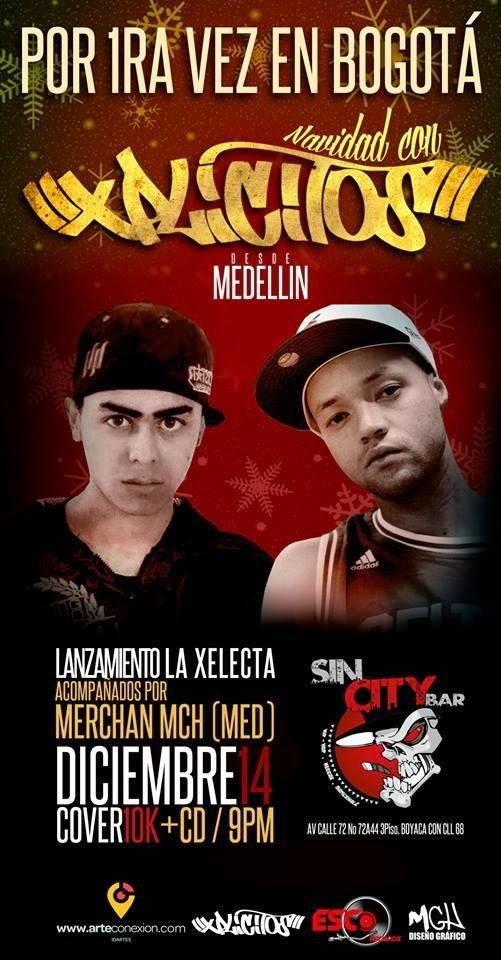 Xplicitos Medellin Live In Bogota Colombia December 14 flyer image