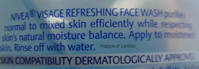 Nivea Visage Refreshing Face Wash Product Description+best face washes