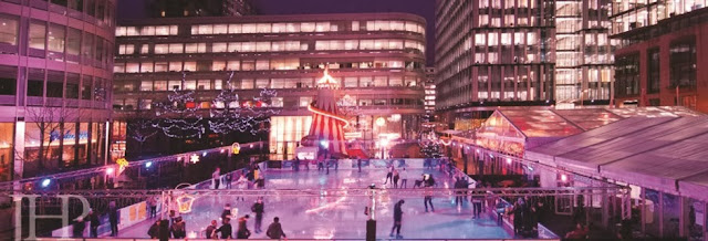 Spinningfields Manchester, Christmas Ice Rink, Meet Santa