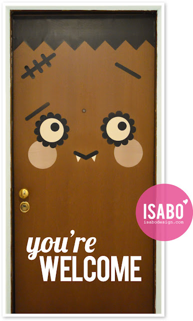 ISABO Halloween Door Decoration
