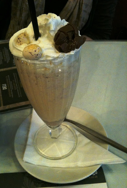 A photo of an Easter Egg Milkshake at Fego Cafe