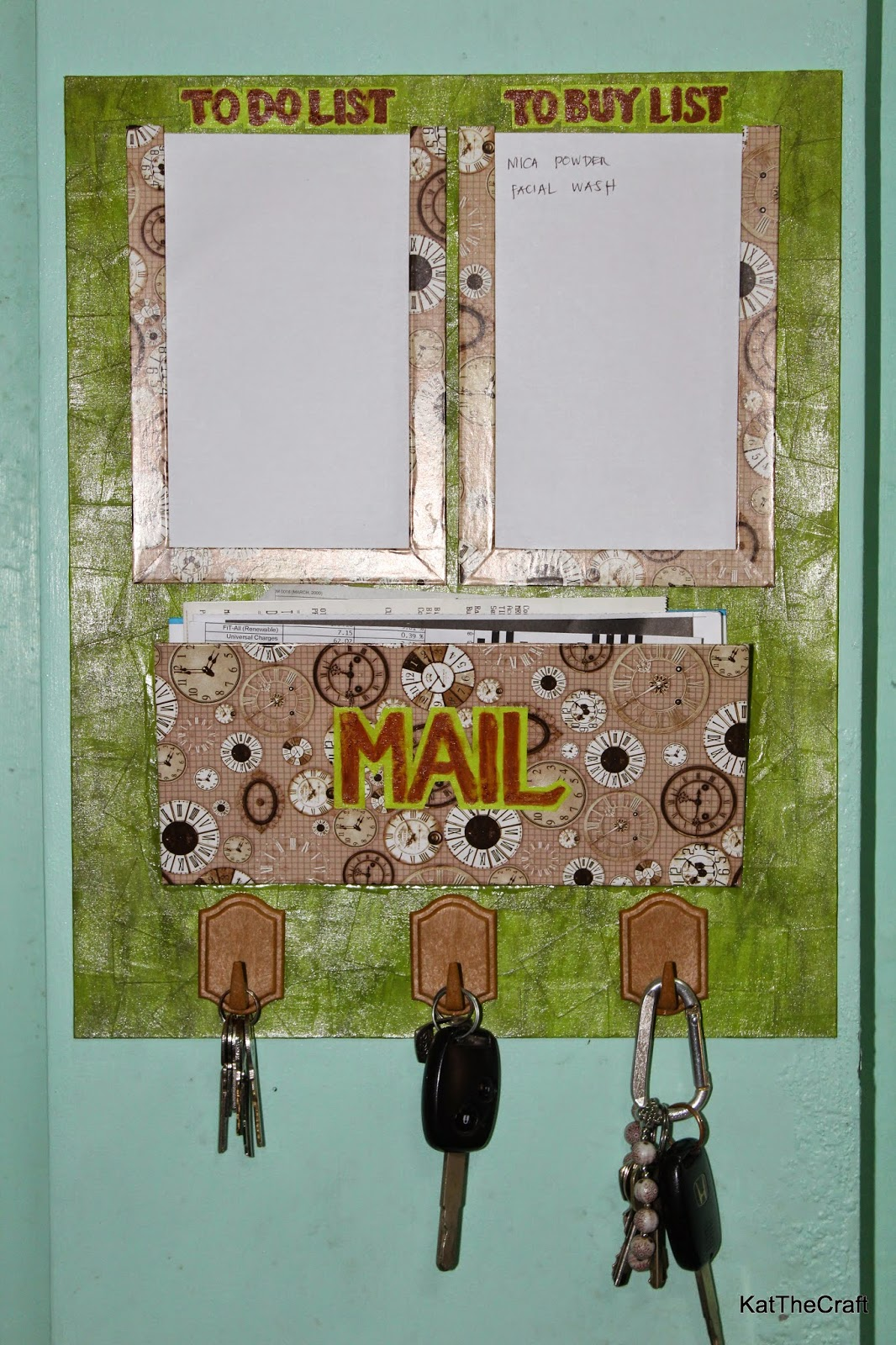 Wall Key Holder So Many Things To Do So Little Time Diy Wall Organizer Mail