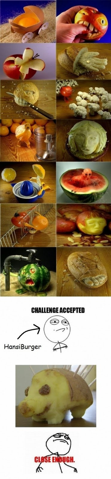 Sculptures made ​​from food