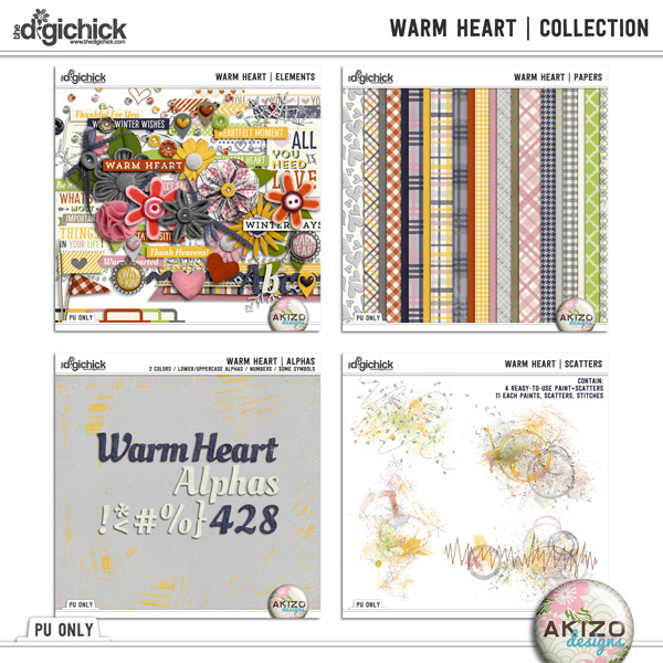 Warm Heart collection by Akizo Designs Preview