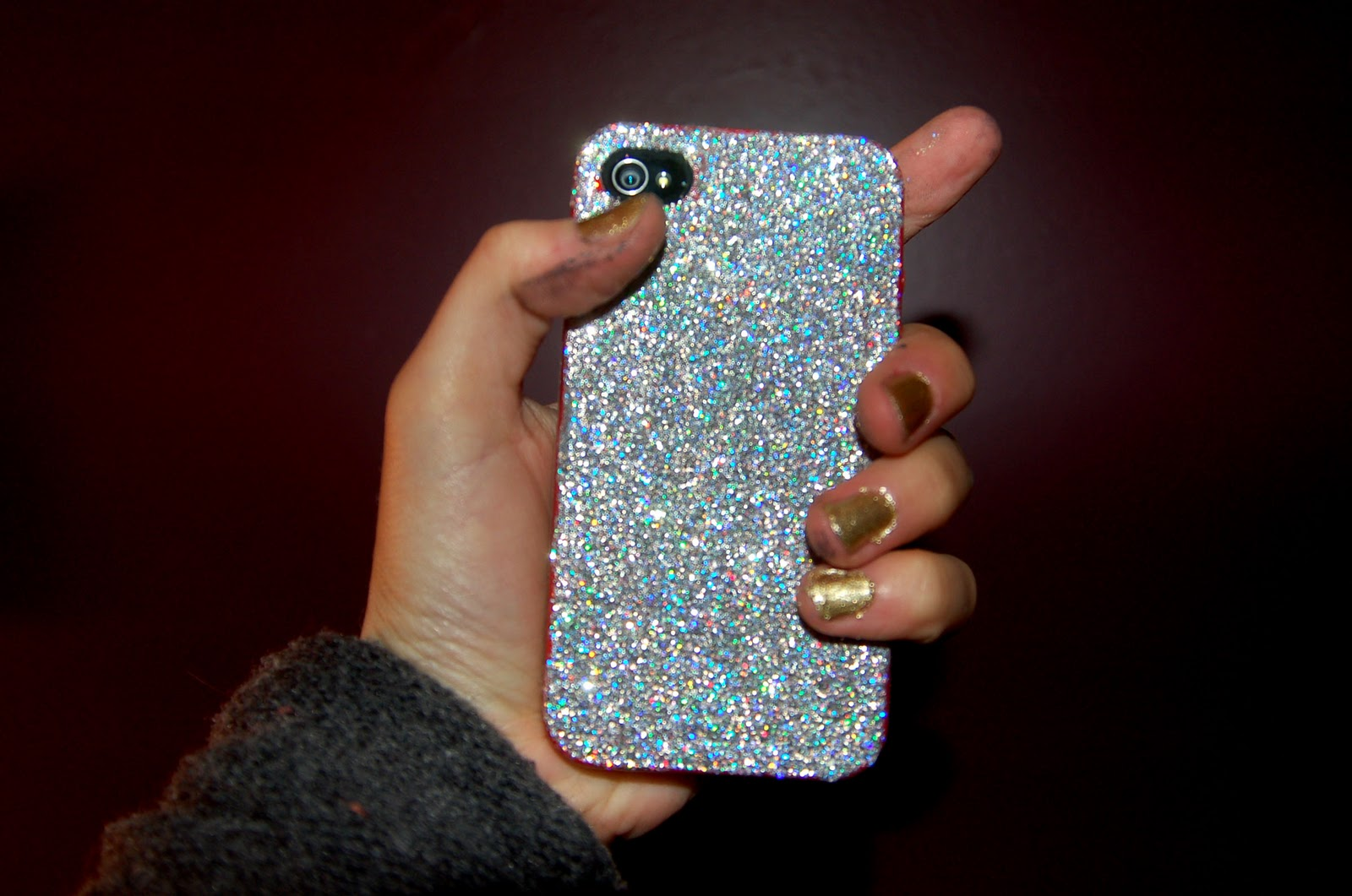 hey look what i made first post glitter cell phone case