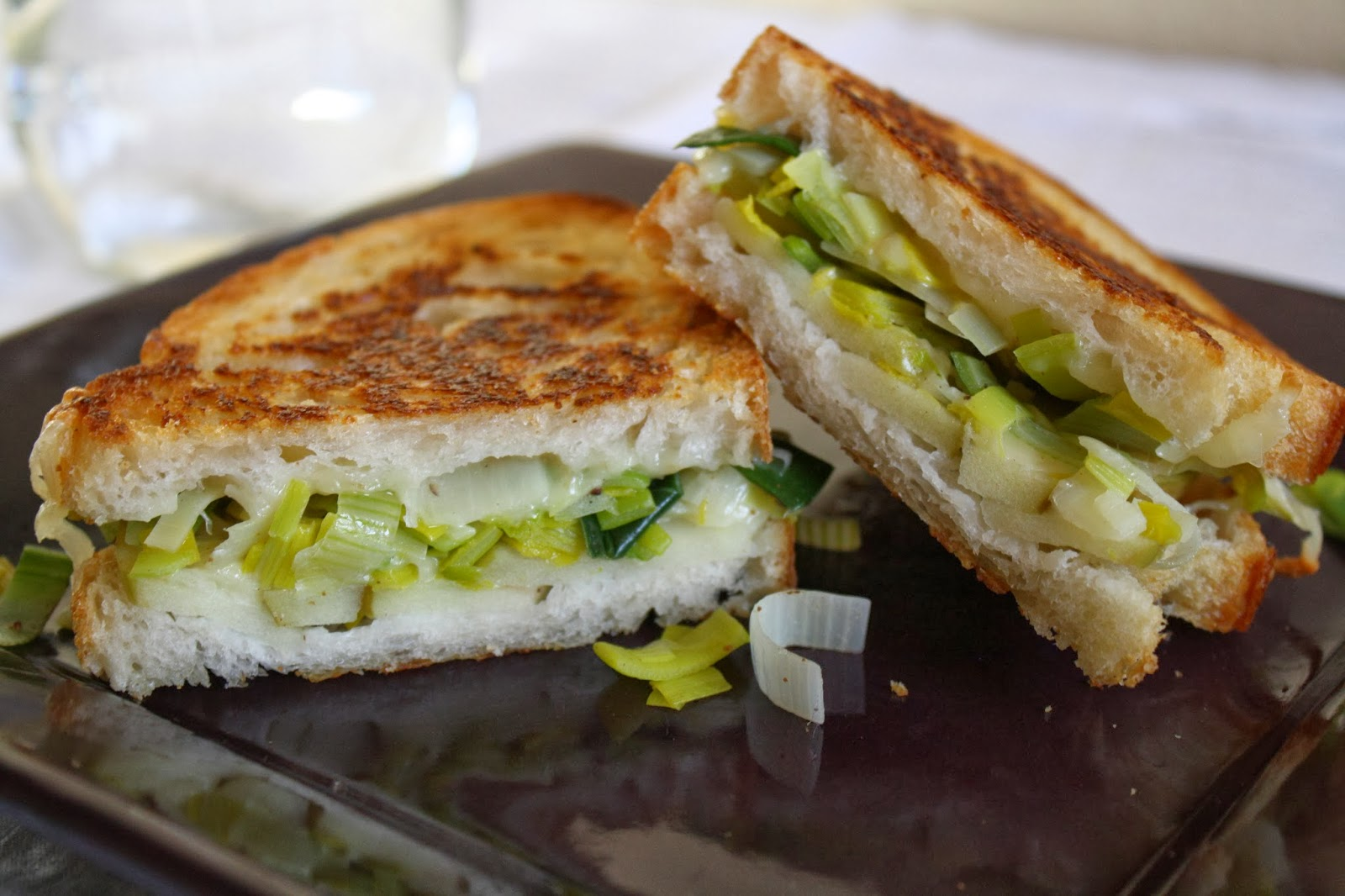 This and That: Apple, Leek, and Gruyere Grilled Cheese