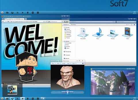 Tema Kartun Lucu Windows 7