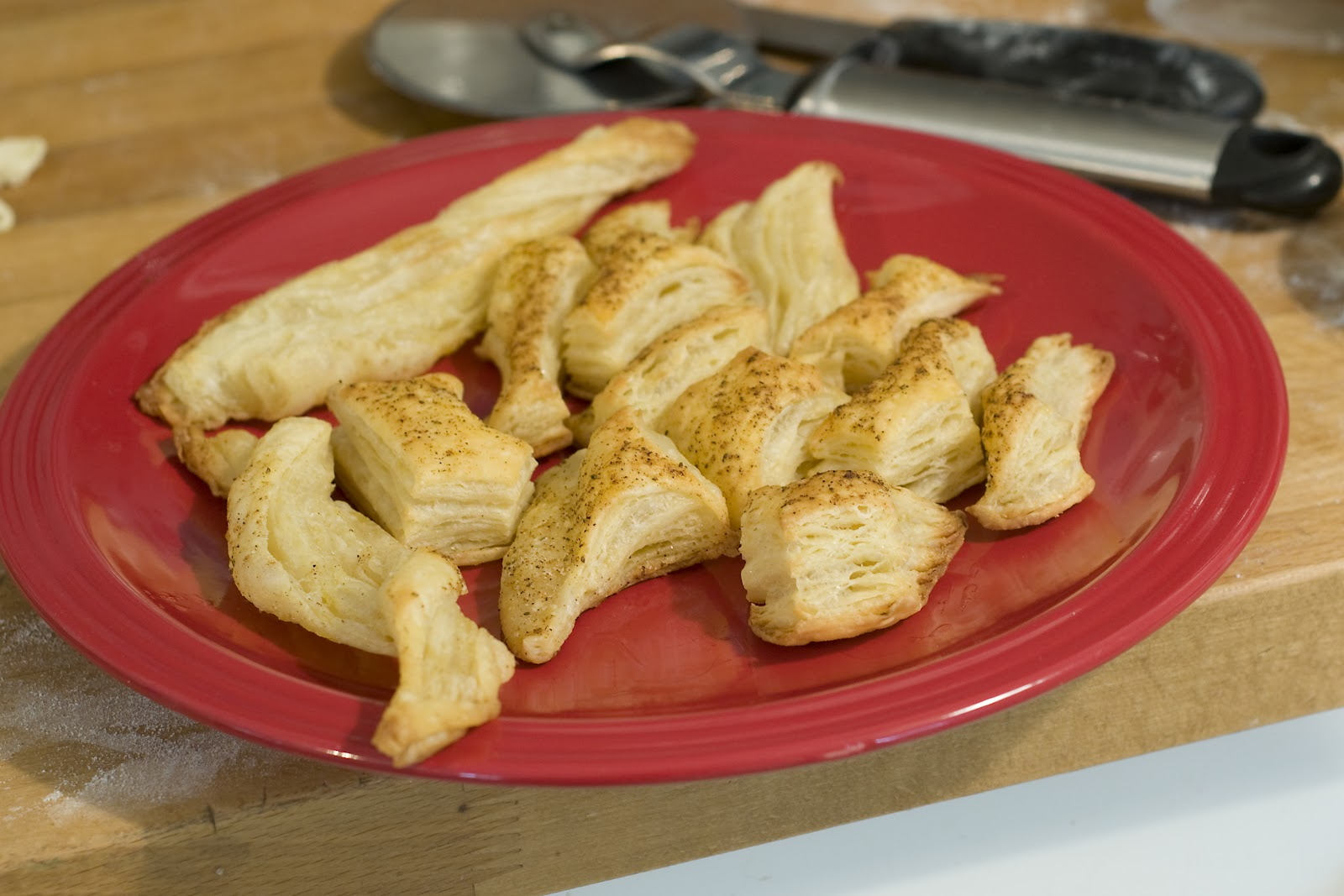 brushed these pieces with butter and sprinkle Old Bay Seasoning on ...