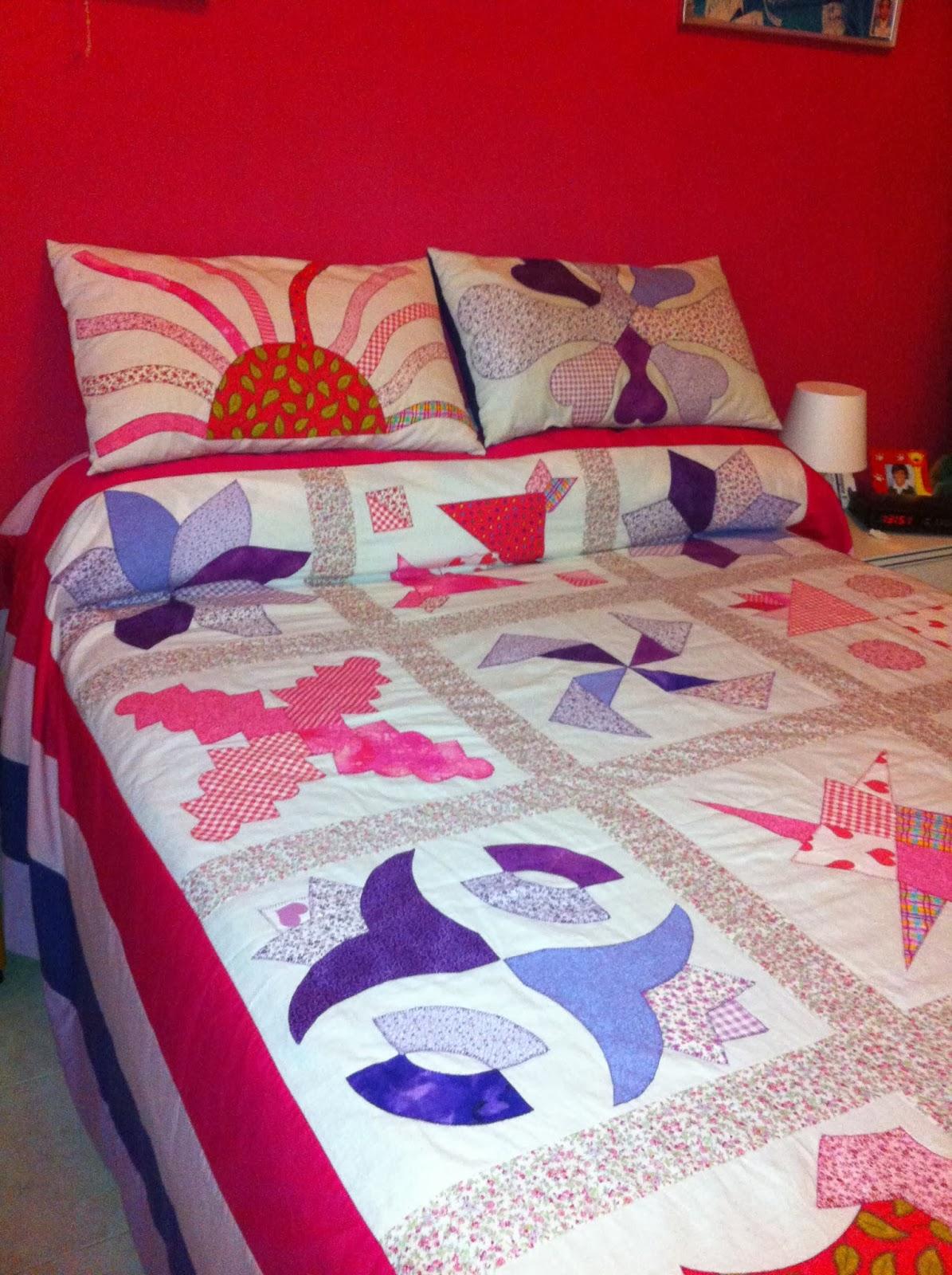 Las cositas de mary sanchez colcha de patchwork cama de matrimonio - Colcha patchwork ...