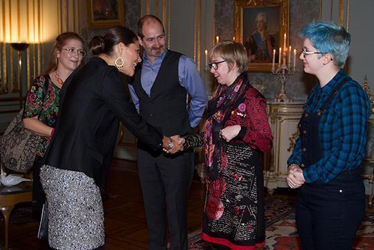 Crown Princess Victoria received Felicia Kostenius