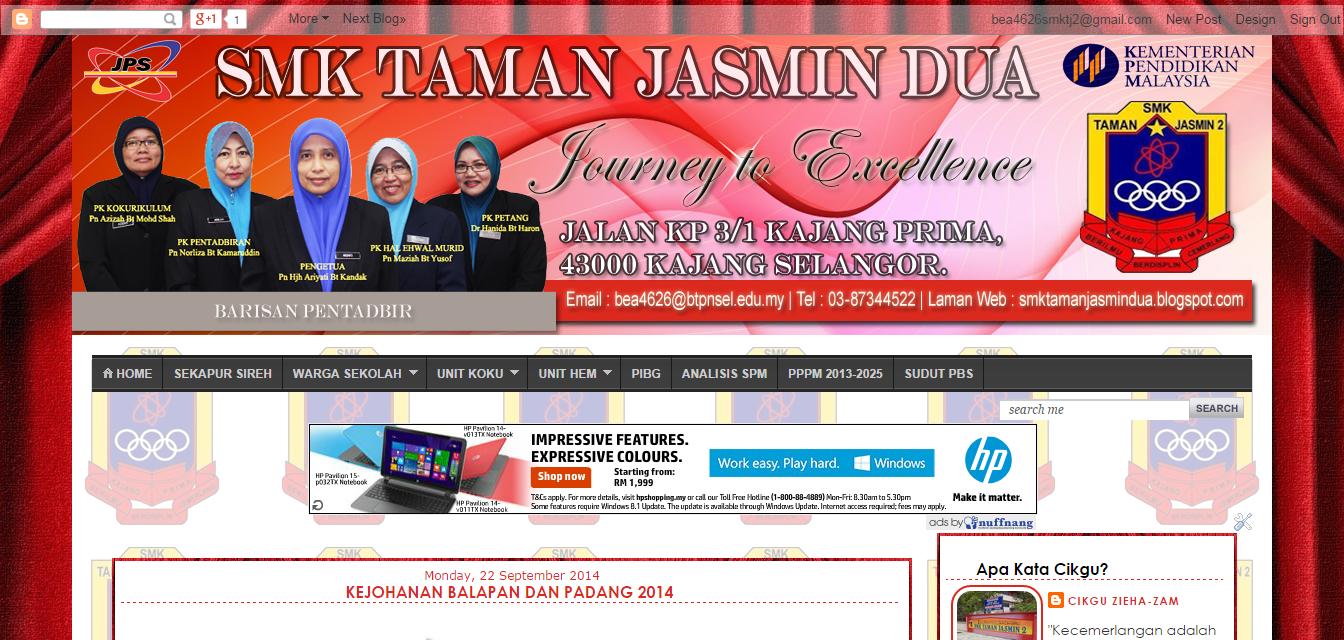 Redesign Blog SMK Taman Jasmin Dua