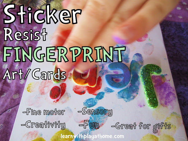 activity for kids, personalised gift, fingerprint painting