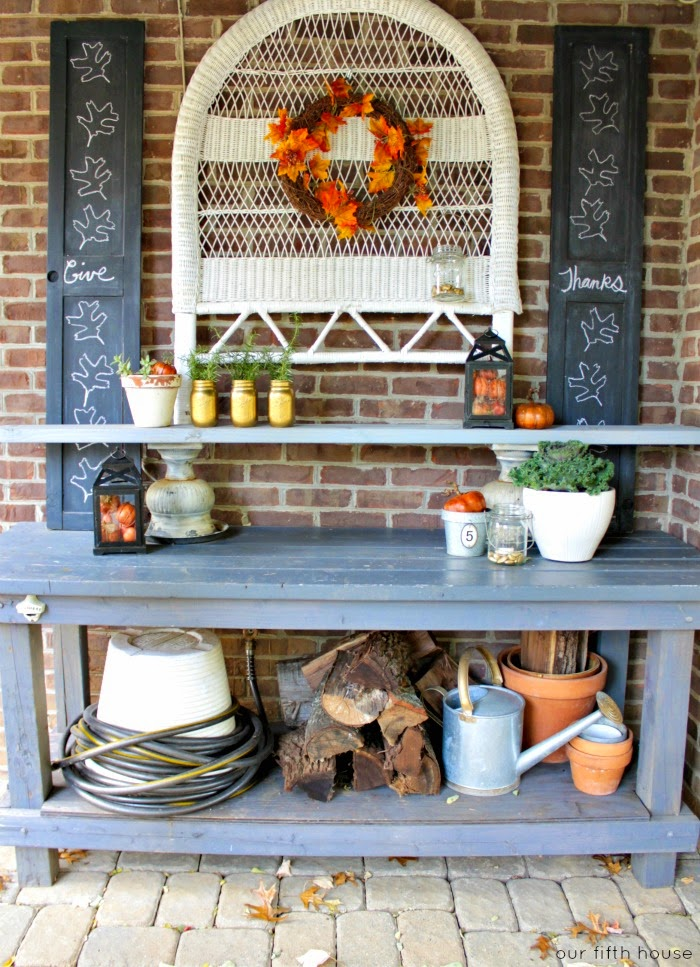 fall potting bench