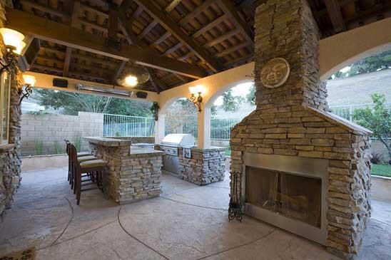 great house design outdoor kitchen