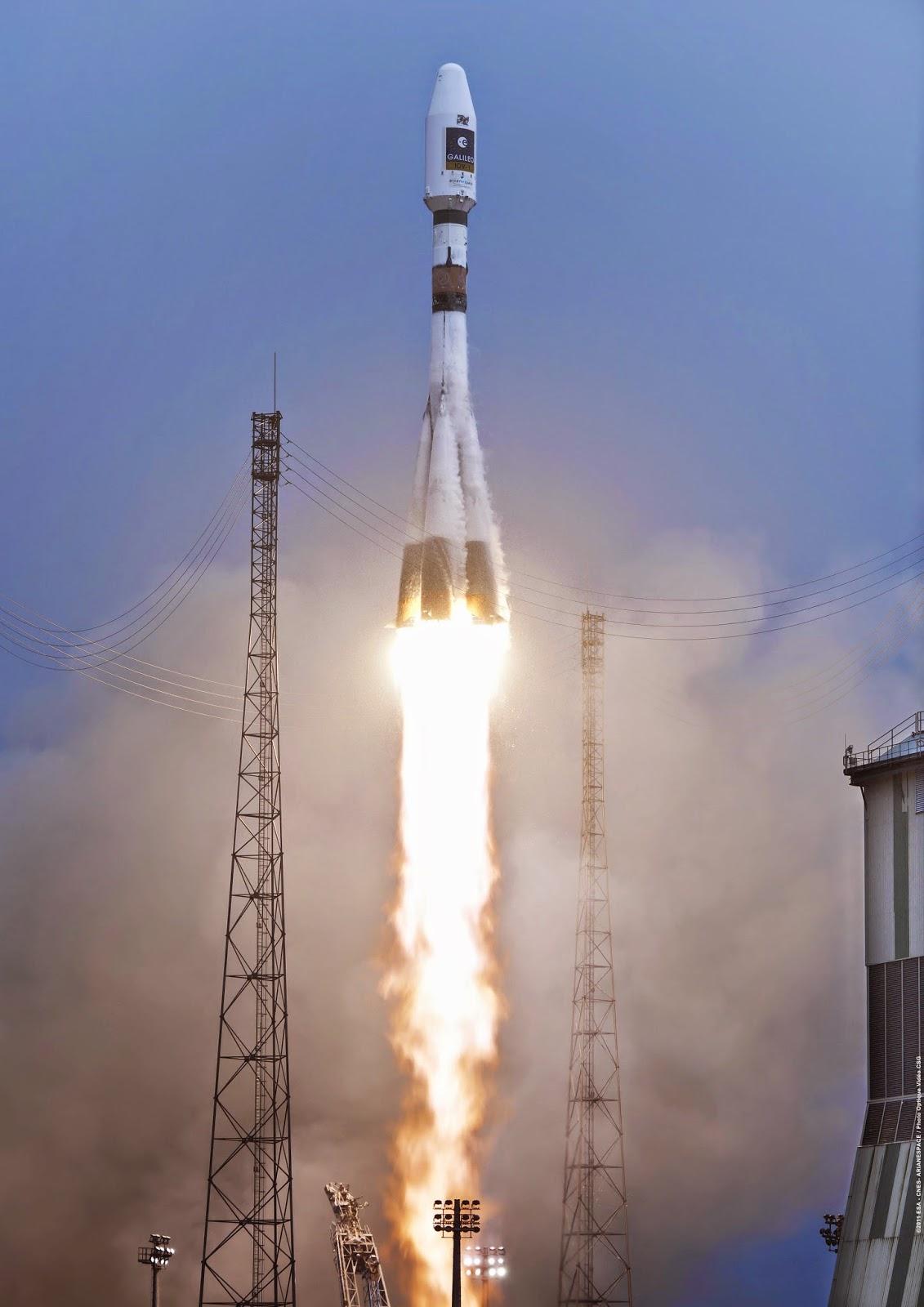 Soyuz levando 2 satélites Galileo