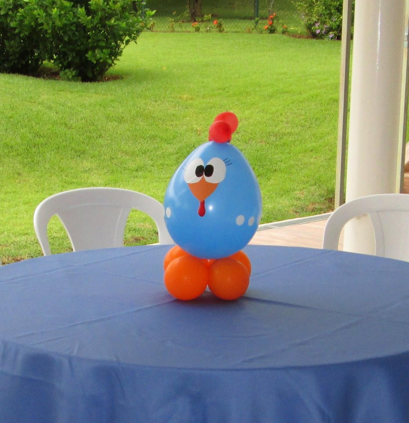 centro de mesa - galinha pintadinha