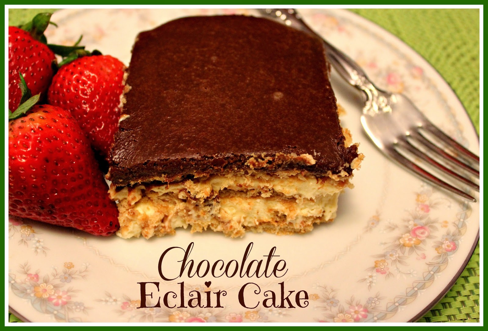 Images Of Chocolate Eclair Cake : Sweet Tea and Cornbread: No Bake Chocolate Eclair Cake!