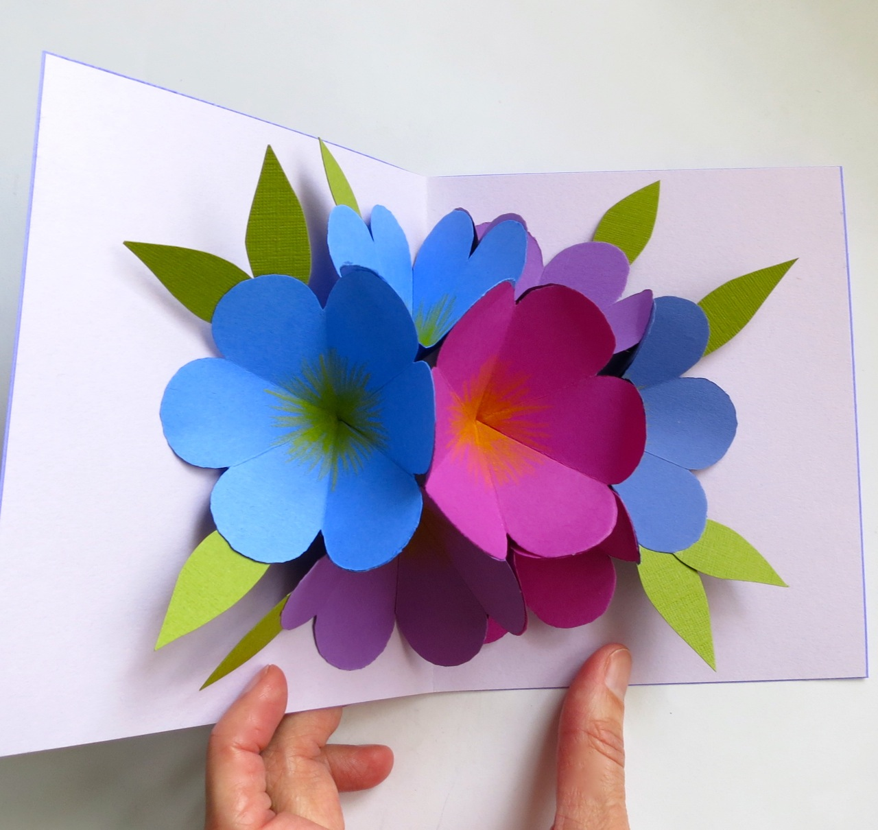made it ms pop up flower card