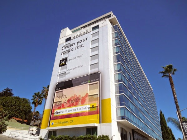Giant Yellow Pages Crush your to do list billboard