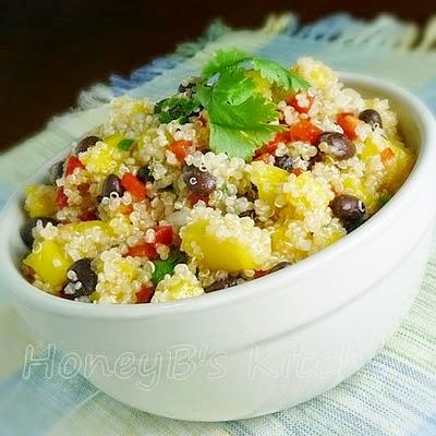 Quinoa Salad #mango #quinoa #cilantro