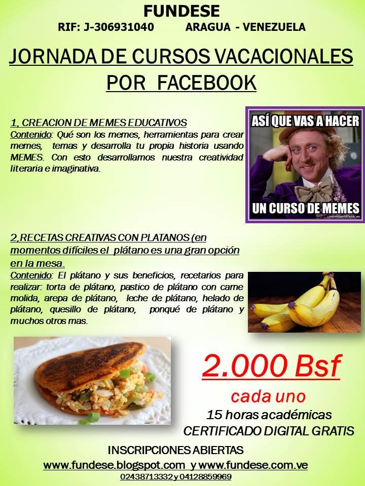 Cursos por facebook