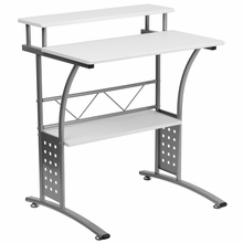 Clifton Series White Computer Desk by Flash Furniture