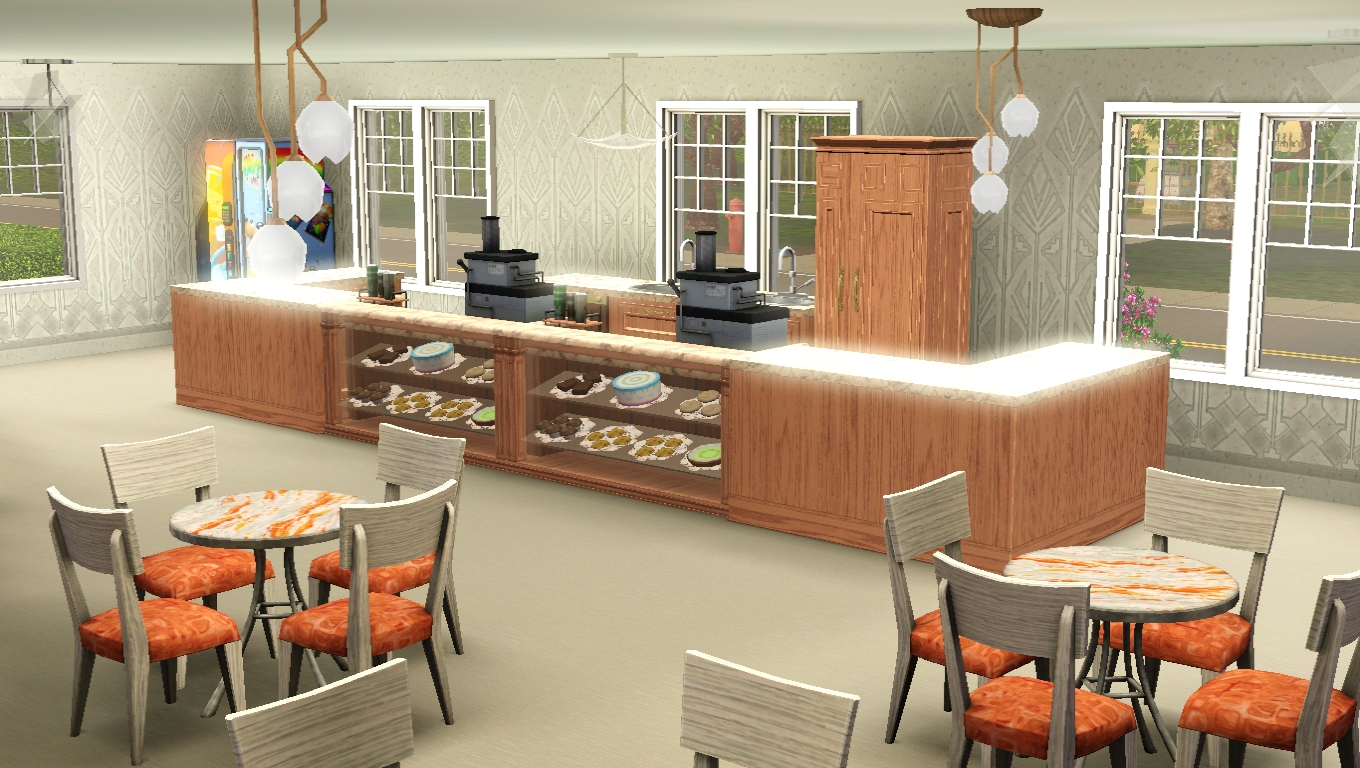 sims 3 cafe