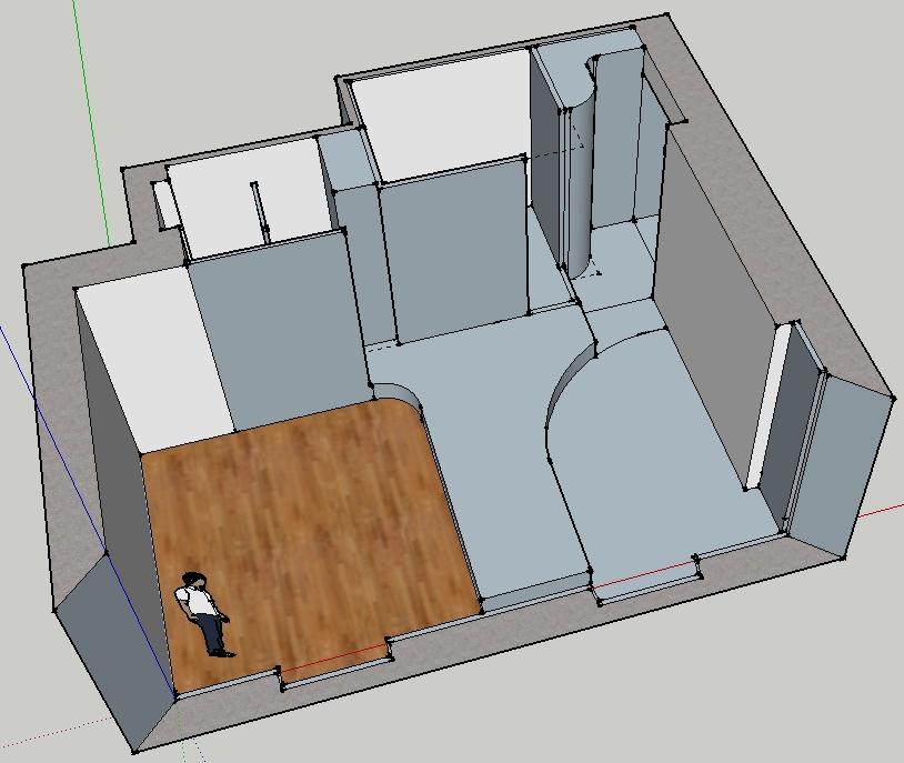 Ecologie d 39 une r novation le temps des plans Lit estrade chambre studio