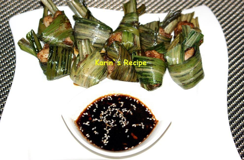 Karin`s Recipe: Ayam Bungkus Pandan Thailand (Thai Pandan Chicken)