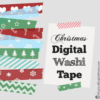 Christmas Digital Washi Tape